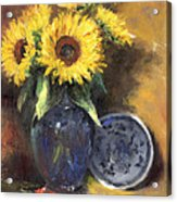 A Sunflower Smile Acrylic Print