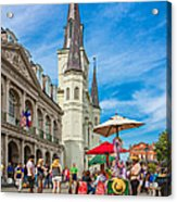 A Sunny Afternoon In Jackson Square Acrylic Print