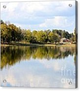 A Sunny Day's Reflections At The Lake House Acrylic Print