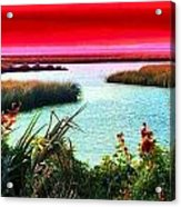 A Sunset Crimsoned Acrylic Print