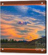 A Surprise Sunset Visit Landscape Painting Acrylic Print