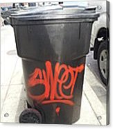 A Sweet Garbage Can. Acrylic Print