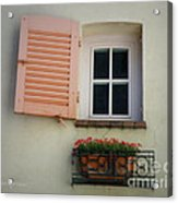 A Sweet Shuttered Window Acrylic Print by Lainie Wrightson