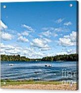 A Swim In The Lake Acrylic Print