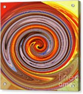 A Swirl Of Colors From The Sun And Earth Acrylic Print