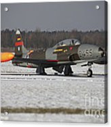 A T-33 Shooting Star Trainer Jet Acrylic Print
