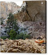 A Tent Pitched In A Large Alcove Acrylic Print