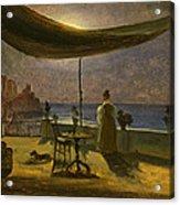 A Terrace In Amalfi In Moonlight Acrylic Print