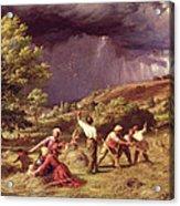 A Thunder Shower, 1859 Acrylic Print