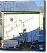 A Tool Shed In The Back Yard Acrylic Print