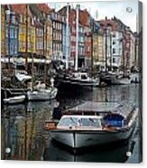 A Tour Boat At Nyhavn Acrylic Print