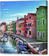 A Tour Of Burano Acrylic Print