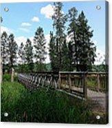 A Trail's Footbridge Acrylic Print