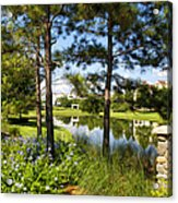 A Tranquil Pond At Walt Disney World Acrylic Print