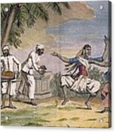 A Troupe Of Bayaderes, Or Indian Acrylic Print by Pierre Sonnerat