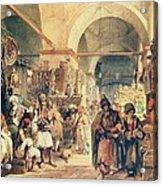 A Turkish Bazaar Acrylic Print