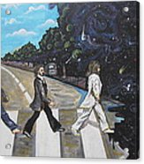 A Twist On Abbey Road By Erik Franco.  Acrylic Print