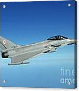 A Typhoon Aircraft From 29 Squadron Royal Air Force Acrylic Print
