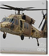 A Uh-60l Yanshuf Helicopter Landing Acrylic Print