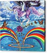 A Unicorn's Love Acrylic Print