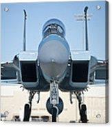 A U.s. Air Force F-15d Eagle Taxis Acrylic Print