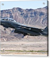 A U.s. Air Force F-15e Strike Eagle Acrylic Print