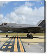 A U.s. Air Force F-35a Taxiing At Eglin Acrylic Print