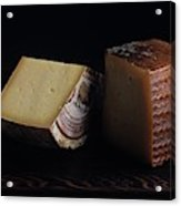 A Variety Of Cheese On A Cutting Board Acrylic Print