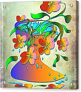 A Vase Of Flowers Acrylic Print