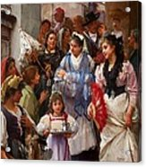 A Venetian Christening Party, 1896 Acrylic Print by Henry Woods