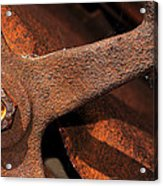 A Very Rusty Steering Wheel Acrylic Print