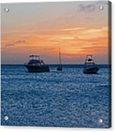 A View From A Catamaran2 - Aruba Acrylic Print
