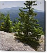A View From A Mountain In A Vermont State Park Acrylic Print