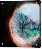 A View Into A Different Dimension Acrylic Print by Sandra Pena de Ortiz