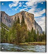 A View Of El Capitan From The Merced River Acrylic Print