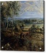 A View Of Het Steen In The Early Morning Acrylic Print by Peter Paul Rubens