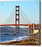 A View Of The Golden Gate Bridge From Baker's Beach  Acrylic Print