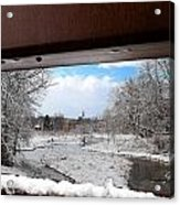 A View Of The Maunesha In A Fresh Blanket Of Snow Acrylic Print
