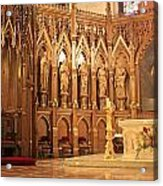 A View Of The St. Patrick Old Cathedral Altar Area Acrylic Print