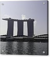 A View Of The Three Towers Of The Marina Bay Sands In Singapore Acrylic Print