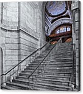 A View To The Mcgraw Rotunda Nypl Acrylic Print