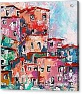 A Village By The Sea Acrylic Print by Robert Stagemyer