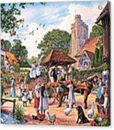 A Village Wedding Acrylic Print