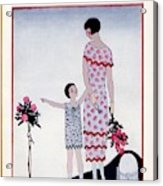A Vintage Vogue Magazine Cover Of A Child Acrylic Print