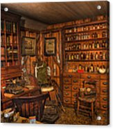 A Visit To The Doctor's Office - Old Time Physician Office - Doctors - Pharmacists - Opticians Acrylic Print