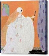 A Vogue Cover Of A Bride Acrylic Print