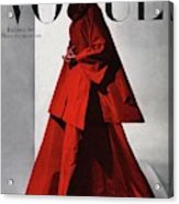 A Vogue Cover Of A Woman Wearing A Red Acrylic Print