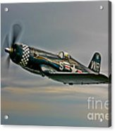 A Vought F4u-4 Corsair In Korean War Acrylic Print