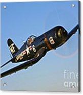 A Vought F4u-5n Corsair Aircraft Acrylic Print