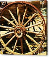 A Wagon Wheel Acrylic Print